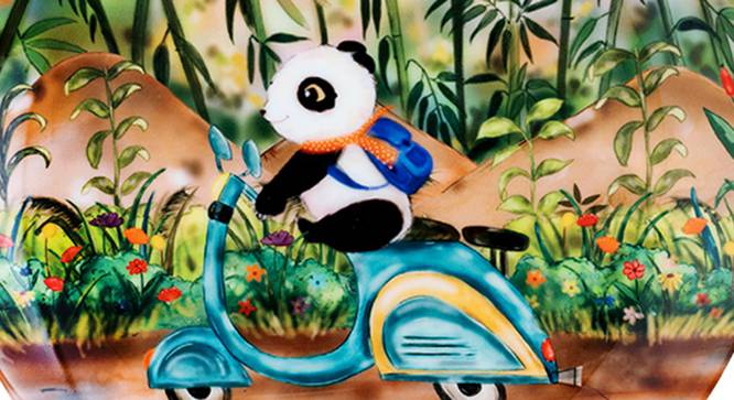 Riding Panda Wall Plate by Urban Ladder - Front View Design 1 - 330261