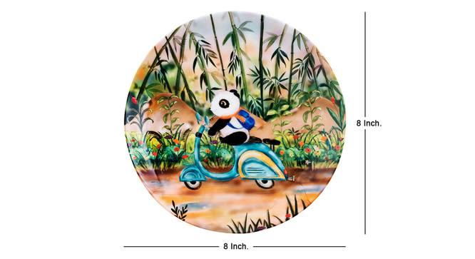 Riding Panda Wall Plate by Urban Ladder - Cross View Design 1 - 330262