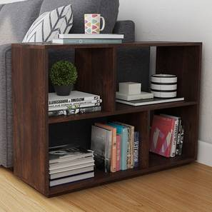 Tetris Side Bookshelf/Display Unit (Walnut Finish) by Urban Ladder - Full View Design 1 - 163697
