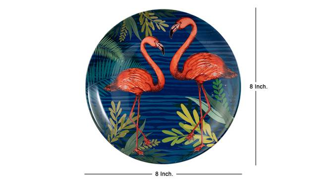 Pink Flamingo Wall Plate by Urban Ladder - Cross View Design 1 - 330301
