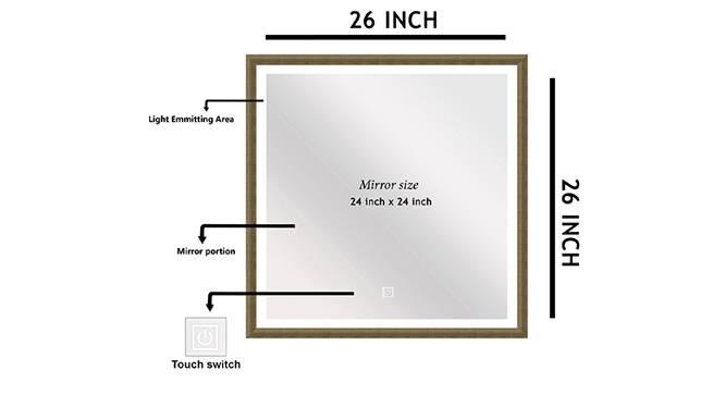 Hans Bathroom Mirror (Beige) by Urban Ladder - Front View Design 1 - 330325