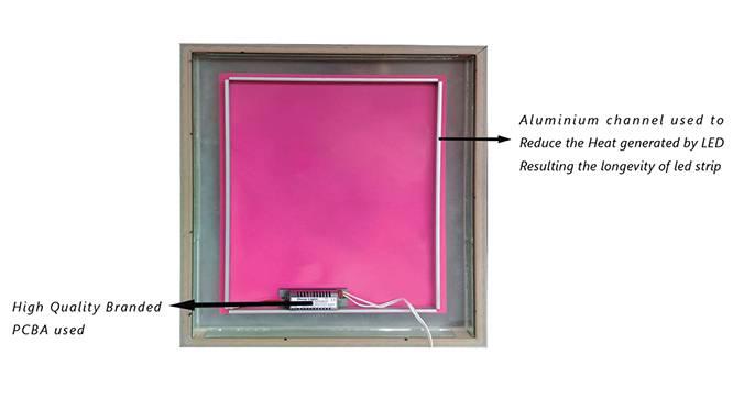 Hans Bathroom Mirror (Beige) by Urban Ladder - Cross View Design 1 - 330326