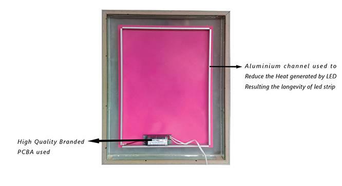 Foster Bathroom Mirror (Brown) by Urban Ladder - Cross View Design 1 - 330344