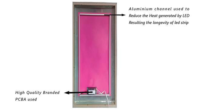 Florian Bathroom Mirror (Beige) by Urban Ladder - Cross View Design 1 - 330347