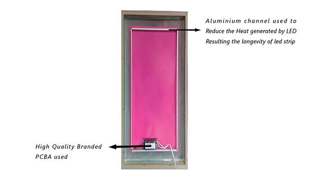 Fenton Bathroom Mirror (Black) by Urban Ladder - Cross View Design 1 - 330353