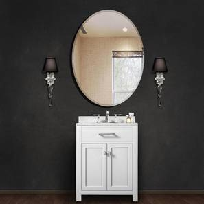Enzo Bathroom Mirror (Silver) by Urban Ladder - Front View Design 1 - 330361
