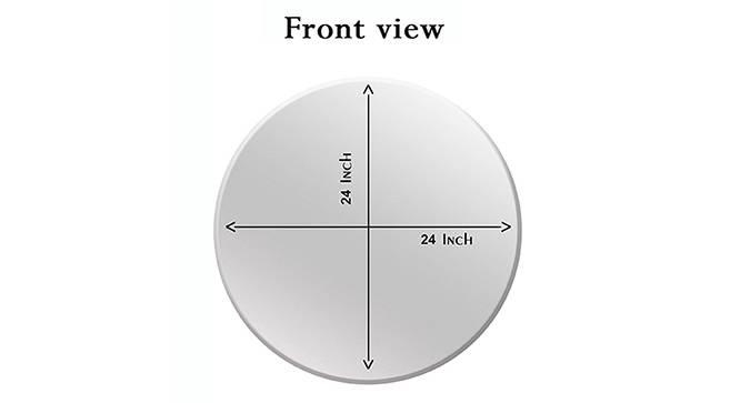 Emmett Bathroom Mirror (Silver) by Urban Ladder - Cross View Design 1 - 330365