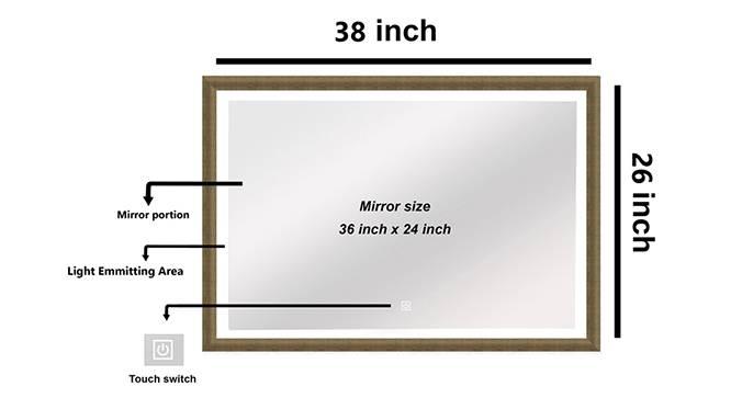 Svetlana Bathroom Mirror (White) by Urban Ladder - Cross View Design 1 - 330371