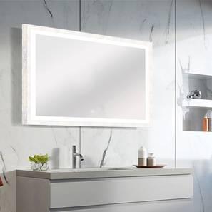 Sulaiman Bathroom Mirror (White) by Urban Ladder - Front View Design 1 - 330373