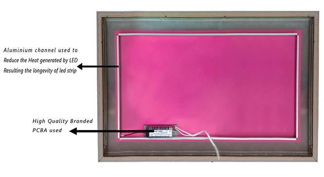 Sofia Bathroom Mirror (Black) by Urban Ladder - Cross View Design 1 - 330379