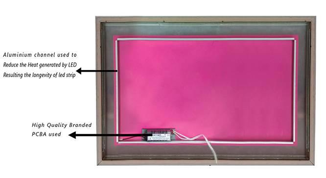 Slade Bathroom Mirror (Brown) by Urban Ladder - Cross View Design 1 - 330384