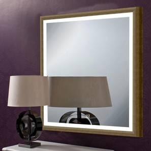 Indigo Bathroom Mirror (Beige) by Urban Ladder - Front View Design 1 - 330387