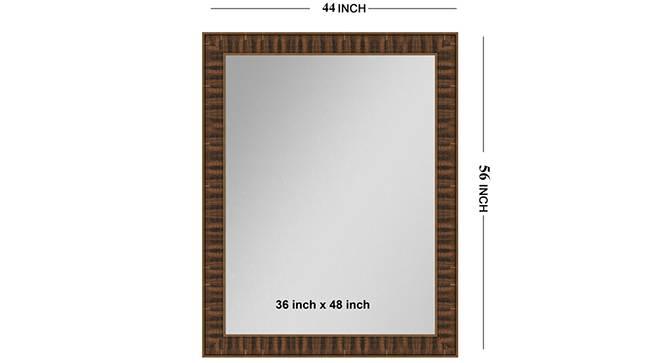 Rashya Mirror (Brown) by Urban Ladder - Front View Design 1 - 330404