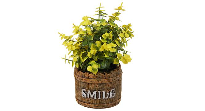 Aura Artificial Plant (Yellow) by Urban Ladder - Front View Design 1 - 330443