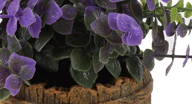 Aura Artificial Plant (Purple) by Urban Ladder - Cross View Design 1 - 330450