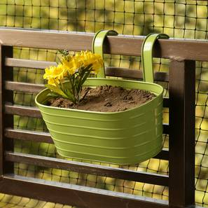 Abhi Planter (Green Gloss) by Urban Ladder - Front View Design 1 - 319328
