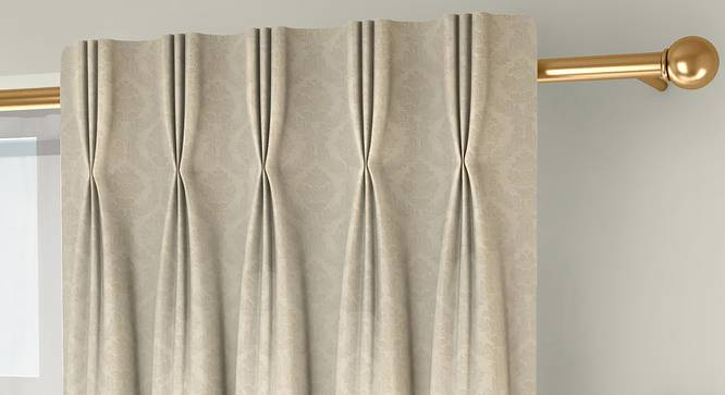 "Pulse Door Curtains - Set Of 2 (Cream, 71 x 274 cm (28""x108"")  Curtain Size, American Pleat) by Urban Ladder - Front View Design 1 - 330682"