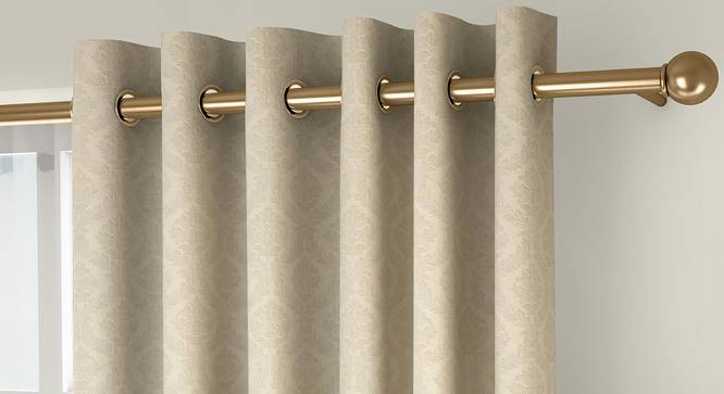 "Pulse Door Curtains - Set Of 2 (Cream, 132 x 213 cm  (52"" x 84"") Curtain Size, Eyelet Pleat) by Urban Ladder - Front View Design 1 - 330698"