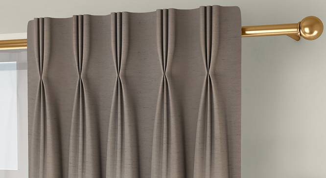 """Tonino Door Curtains - Set Of 2 (Beige, 71 x 274 cm (28""""x108"""")  Curtain Size, American Pleat) by Urban Ladder - Front View Design 1 - 330728"""
