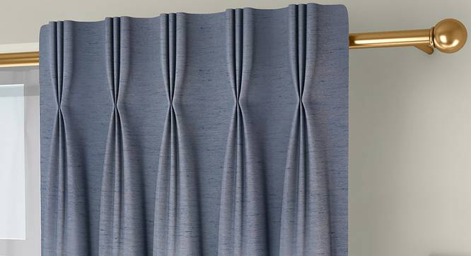 """Tonino Door Curtains - Set Of 2 (Blue, 132 x 274 cm  (52""""x108"""") Curtain Size, Eyelet Pleat) by Urban Ladder - Front View Design 1 - 330734"""