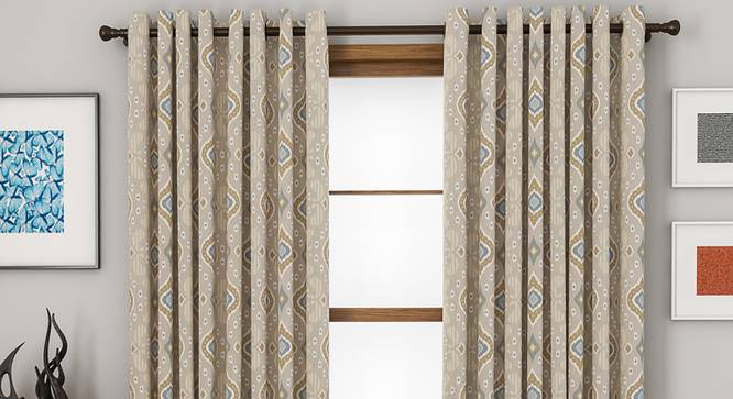"Mayfair Door Curtains - Set Of 2 (112 x 213 cm  (44"" x 84"") Curtain Size) by Urban Ladder - Front View Design 1 - 330820"