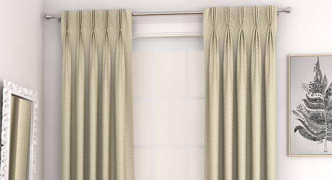 "Gardenia Door Curtains - Set Of 2 (Yellow, 132 x 274 cm  (52""x108"") Curtain Size, Eyelet Pleat) by Urban Ladder - Design 1 Full View - 331000"