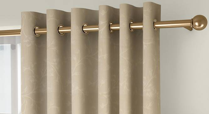 "Pazaz Door Curtains - Set Of 2 (Cream, 132 x 274 cm  (52""x108"") Curtain Size, Eyelet Pleat) by Urban Ladder - Front View Design 1 - 331007"