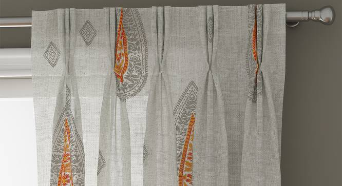 """Sahara Sheer Door Curtains - Set Of 2 (112 x 213 cm  (44"""" x 84"""") Curtain Size) by Urban Ladder - Front View Design 1 - 331162"""