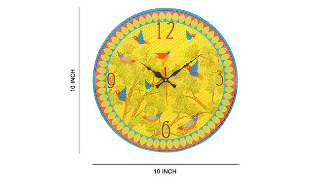 Gond Wall Clock by Urban Ladder - Cross View Design 1 - 331174
