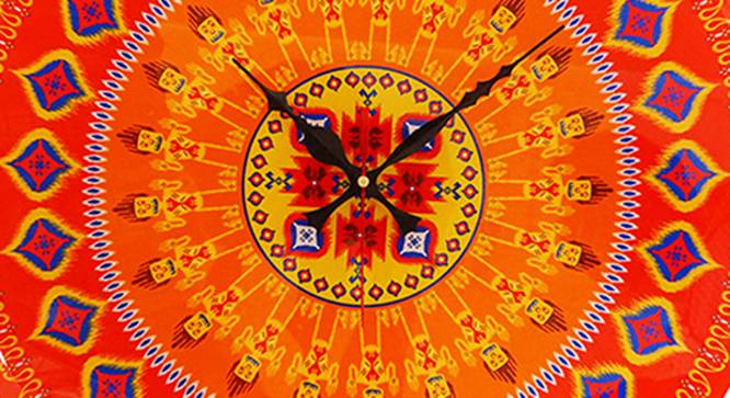 Ikat Wall Clock by Urban Ladder - Front View Design 1 - 331176