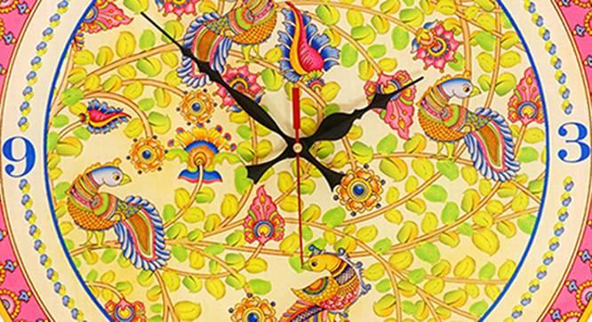 Kalamkari Wall Clock by Urban Ladder - Front View Design 1 - 331179