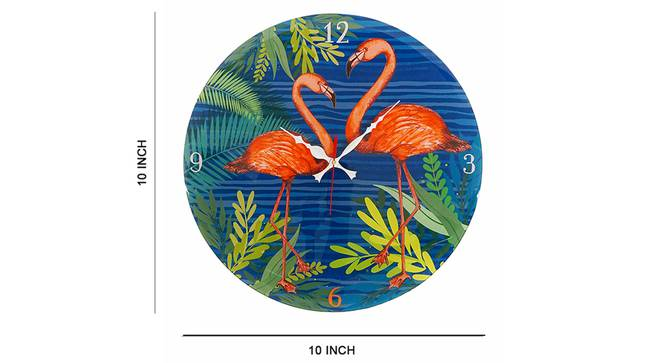 Pink Flamingo Wall Clock by Urban Ladder - Cross View Design 1 - 331231