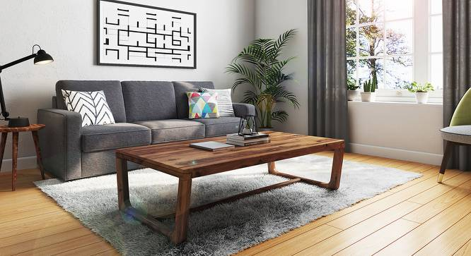 Botwin Coffee Table (Teak Finish) by Urban Ladder - Full View Design 1 -
