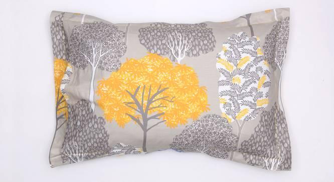 Saptaparni Bedsheet Set (Yellow, King Size) by Urban Ladder - Design 1 Top View - 331426