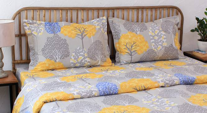 Saptaparni Quilt (Yellow, Single Size) by Urban Ladder - Design 1 Details - 331471