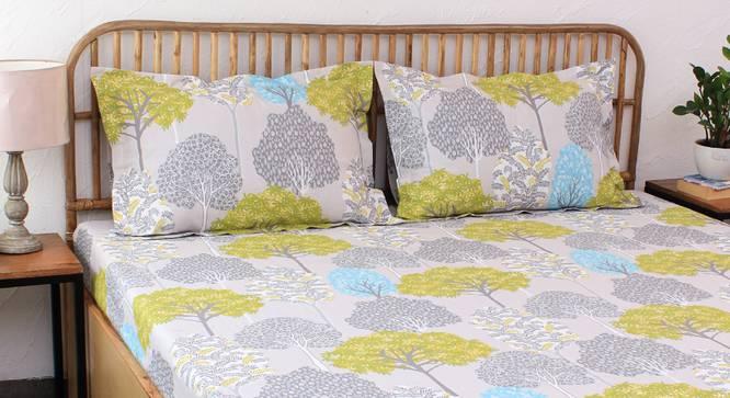Saptaparni Bedsheet Set (Green, Double Size) by Urban Ladder - Design 1 Details - 331488