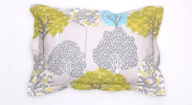 Saptaparni Bedsheet Set (Green, Double Size) by Urban Ladder - Design 1 Top View - 331494