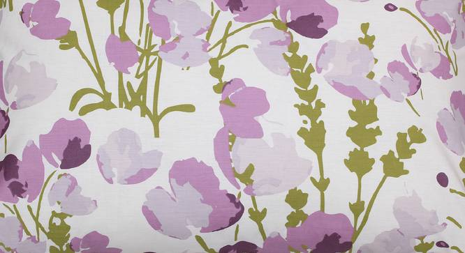 Himalayan Poppies Bedsheet Set (Purple, Double Size) by Urban Ladder - Design 1 Top View - 331512