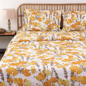 Himalayan Poppies Quilt (Yellow, Single Size) by Urban Ladder - Design 1 Details - 331516