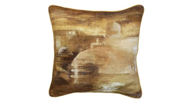 "Vidhisha Cushion Cover (Yellow, 41 x 41 cm  (16"" X 16"") Cushion Size) by Urban Ladder - Design 1 Details - 331561"