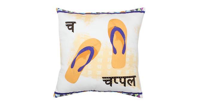 "Paduka Cushion Cover (Blue, 41 x 41 cm  (16"" X 16"") Cushion Size) by Urban Ladder - Design 1 Details - 331582"
