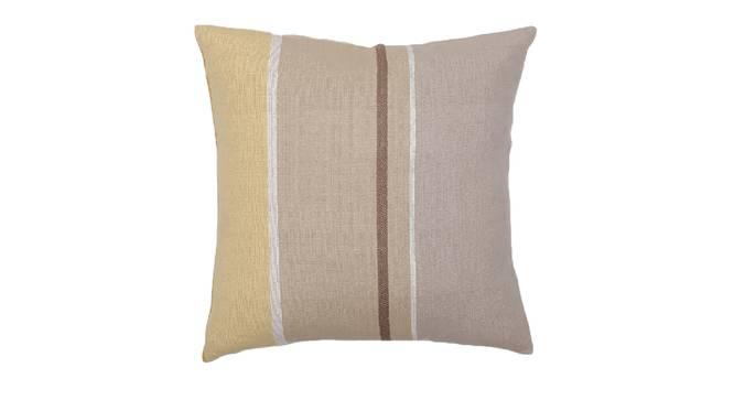 "Pankti Cushion Cover (Beige, 41 x 41 cm  (16"" X 16"") Cushion Size) by Urban Ladder - Design 1 Details - 331585"