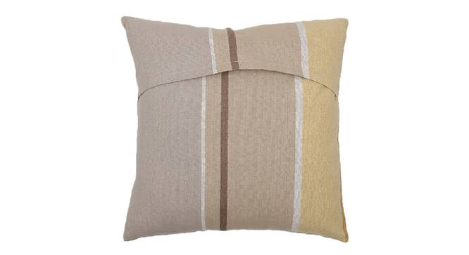 "Pankti Cushion Cover (Beige, 41 x 41 cm  (16"" X 16"") Cushion Size) by Urban Ladder - Front View Design 1 - 331586"