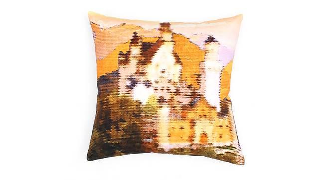 "Castle Cushion Set Of (Pink, 41 x 41 cm  (16"" X 16"") Cushion Size) by Urban Ladder - Design 1 Details - 331597"