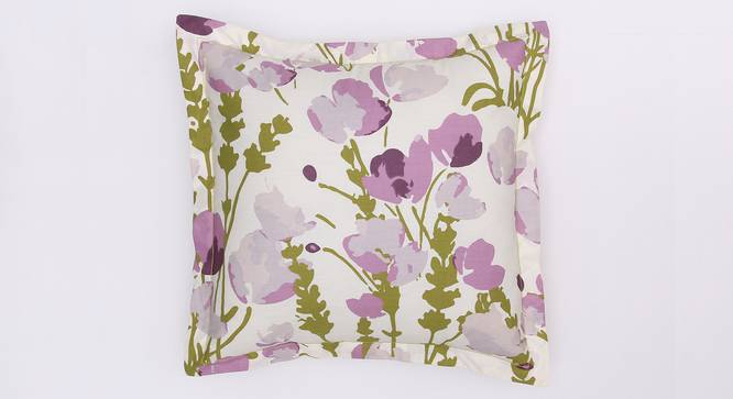 """Himalayan Poppies Cushion Cover (Purple, 41 x 41 cm  (16"""" X 16"""") Cushion Size) by Urban Ladder - Design 1 Details - 331624"""