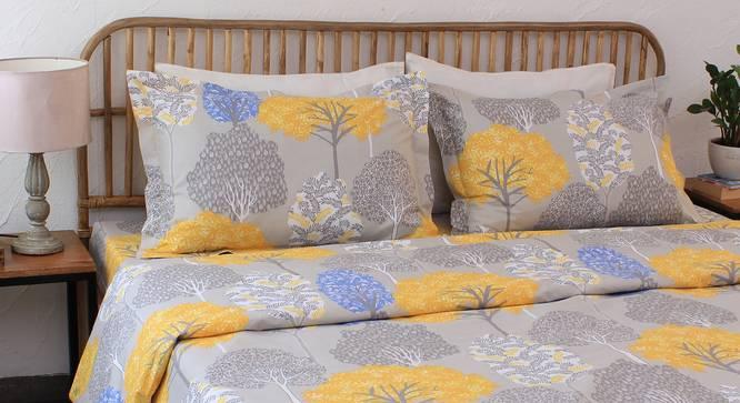Saptaparni Duvet Cover (Yellow, Single Size) by Urban Ladder - Design 1 Details - 332027