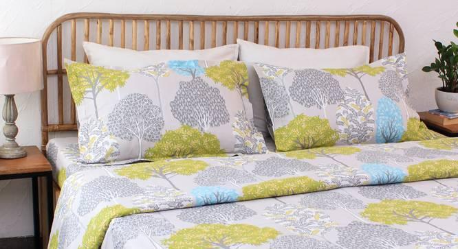 Saptaparni Duvet Cover (Green, Single Size) by Urban Ladder - Design 1 Details - 332030