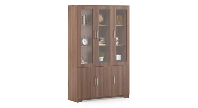 Hubert 6 Door Display Cabinet (Classic Walnut Finish) by Urban Ladder - Cross View Design 1 - 332043