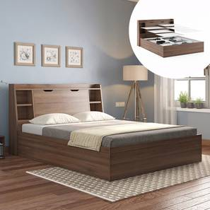 Scott Storage Bed (Queen Bed Size, Box Storage Type, Classic Walnut Finish) by Urban Ladder - Design 1 - 332246