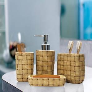 Bruno Bath Accessories Set (Brown) by Urban Ladder - Front View Design 1 - 332379